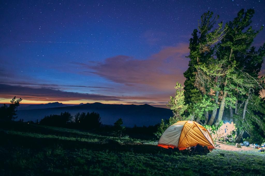 Camped at Round Top Lake, Carson Pass, California
