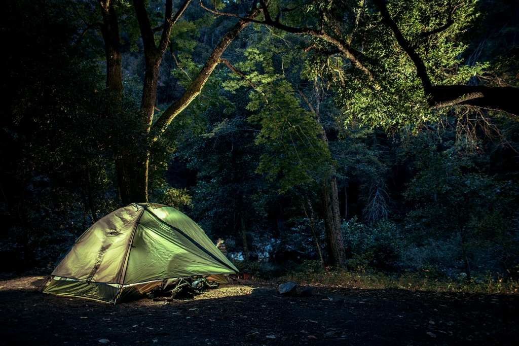Camp side, big sur, california