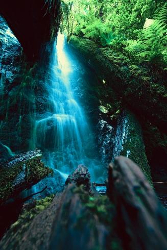 Waterfall at Russian Gulch