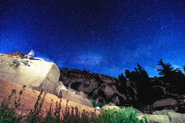 desolation wilderness, night sky