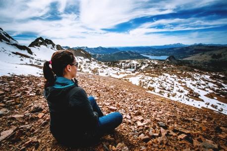 round top at carson pass - sierra nevada, california