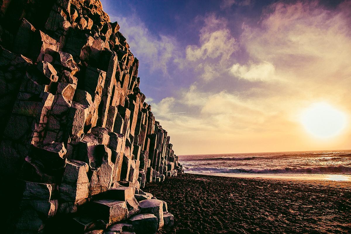 basalt columns near vik, iceland