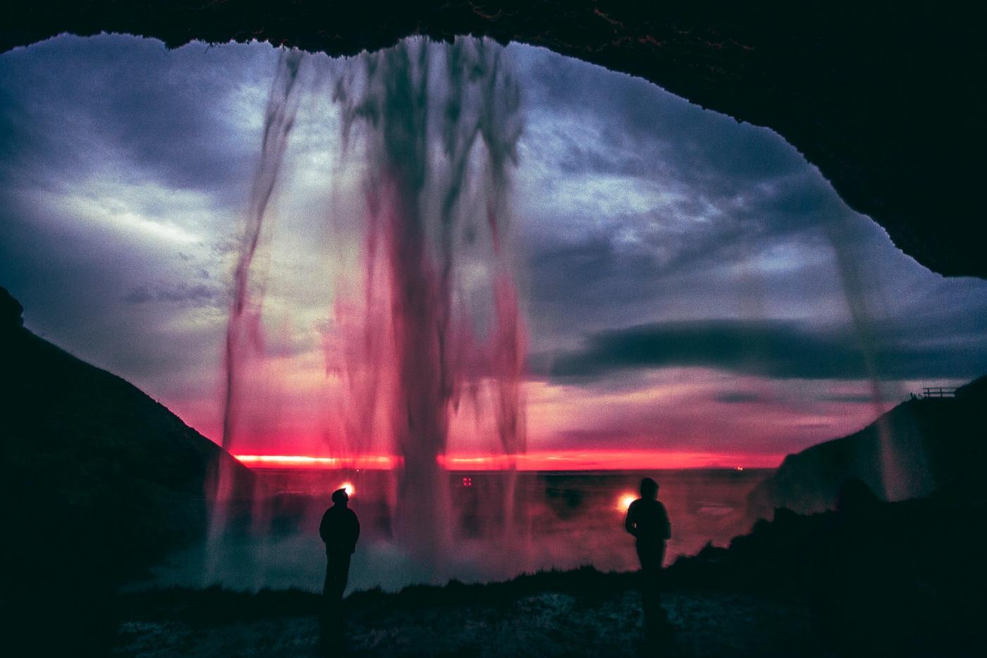 Spectacular falls of Seljalandsfoss