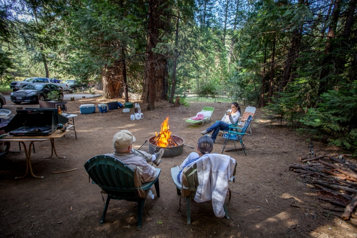 Relaxing campsite at Pipi Valley with coffee