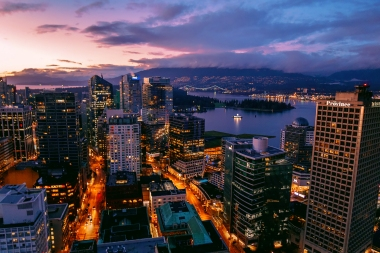 Vancouver at night, British Columbia