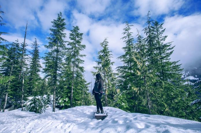 Snow trail at Sea to Sky Gondola