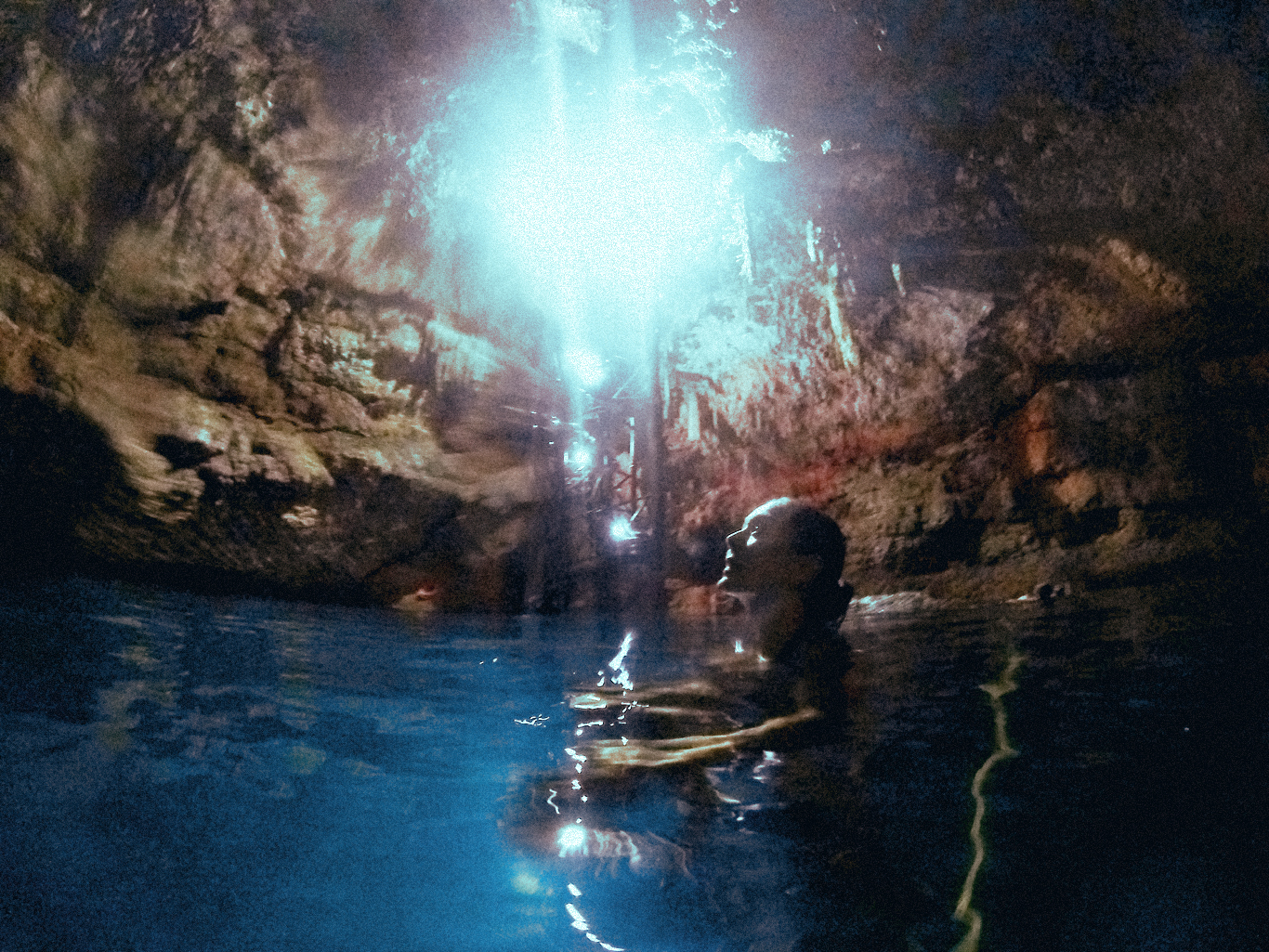 cenote in tulum, mexico